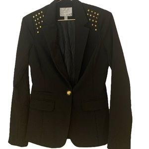 Dynamite Black Blazer With Gold Studs on Shoulders